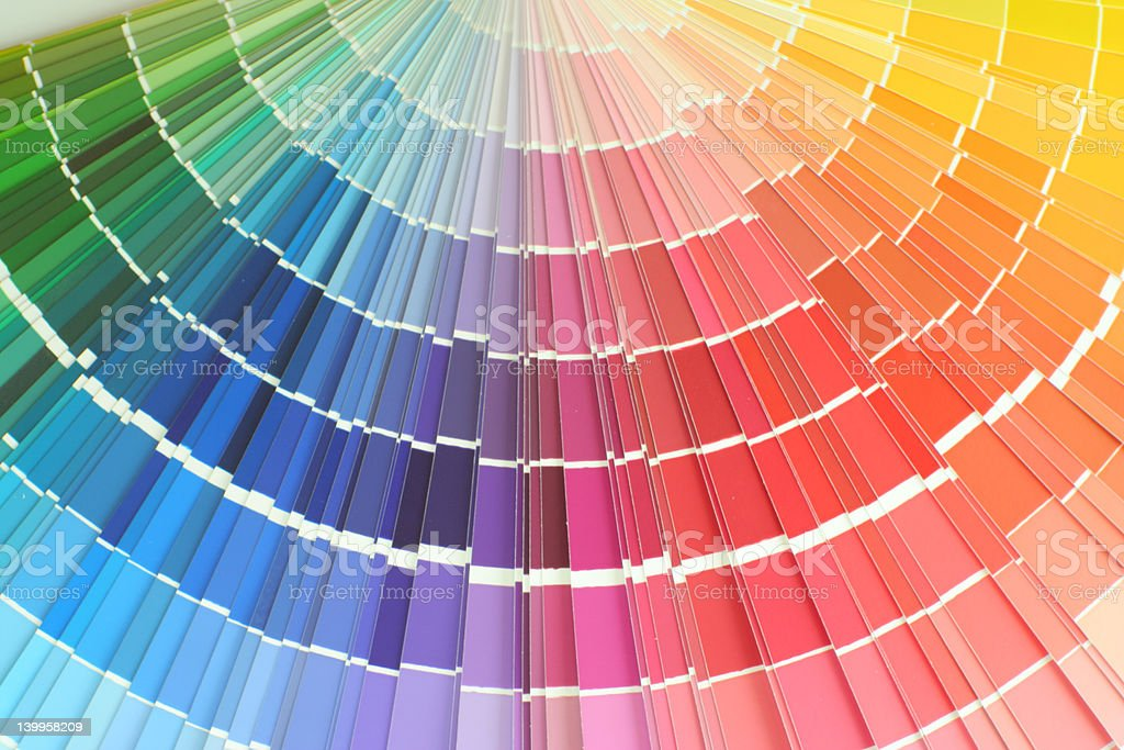 Wide color palette with tones ranging from green to yellow royalty-free stock photo