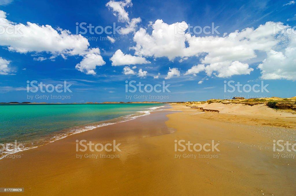 Wide Deserted Beach stock photo