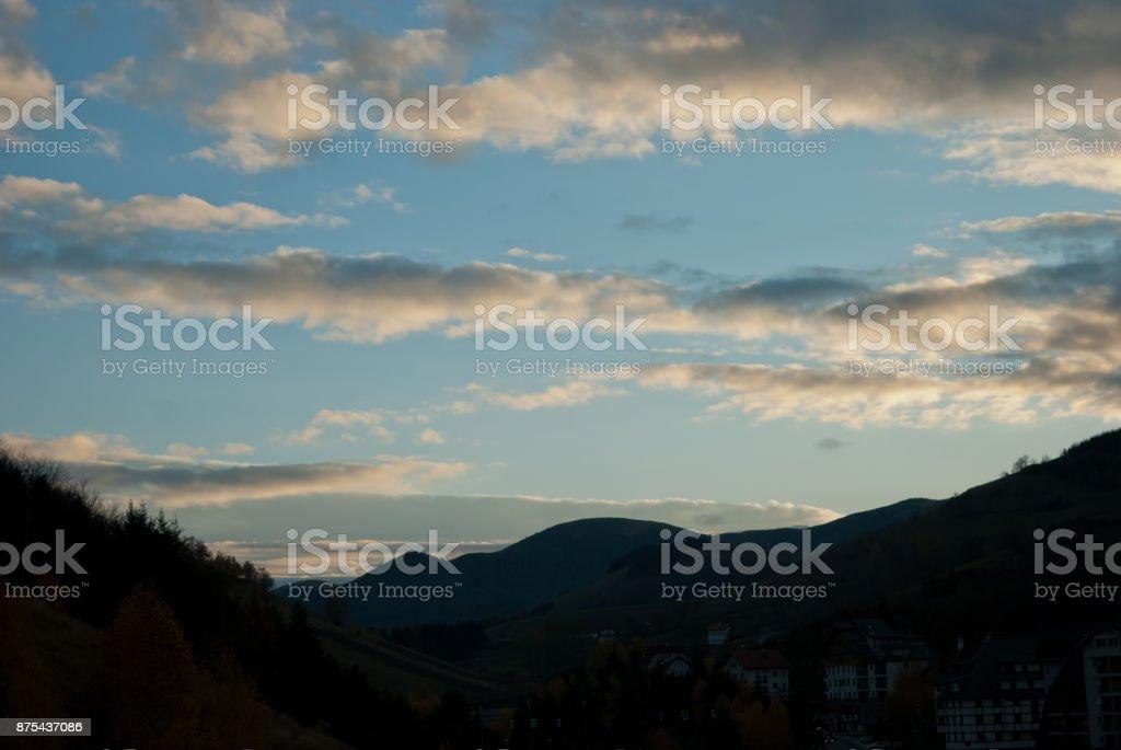 Wide Evening Sky stock photo