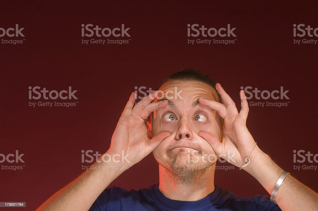 wide eyed guy royalty-free stock photo