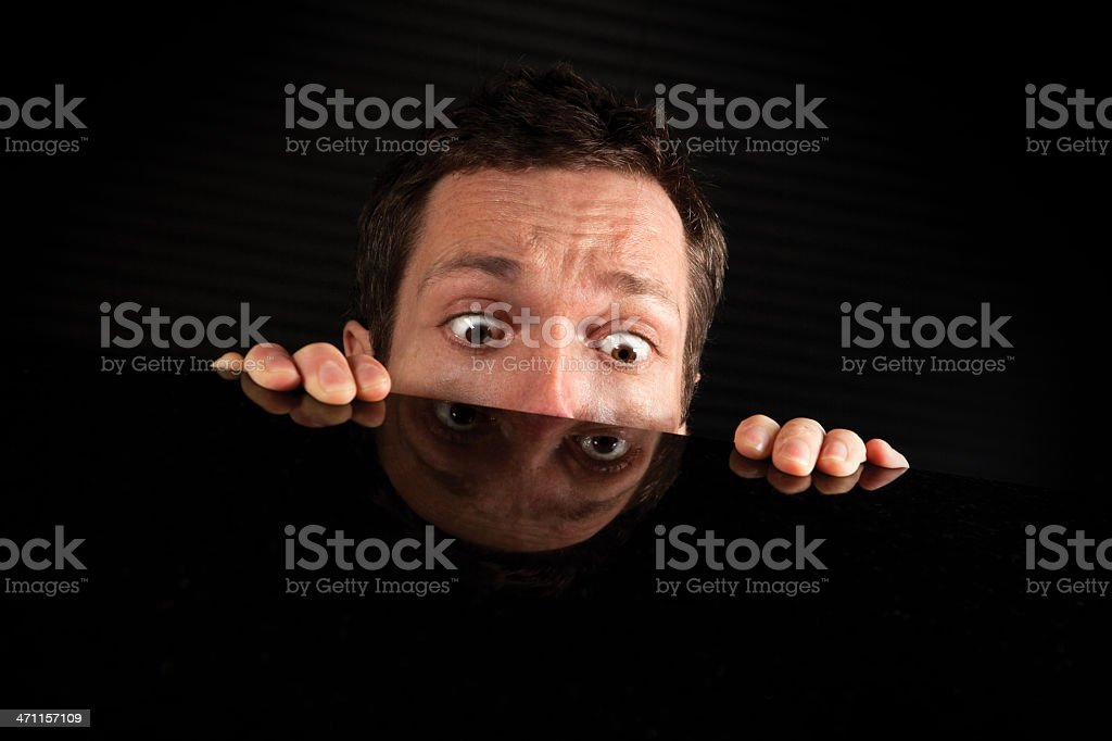 OMG - Wide Eyed With Terror stock photo