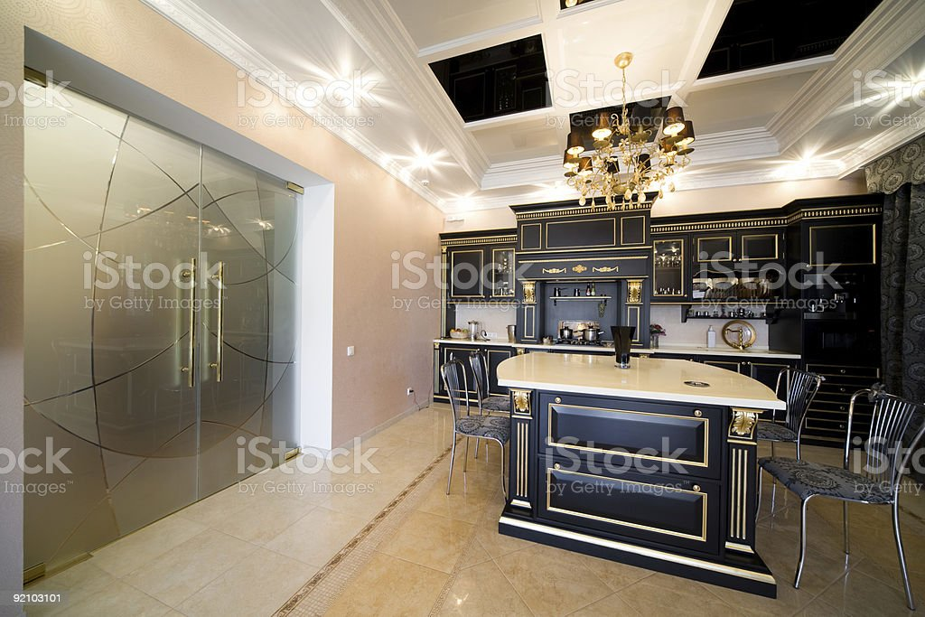 Wide glass doors royalty-free stock photo