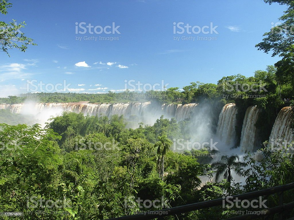 Wide Iguazu Falls stock photo