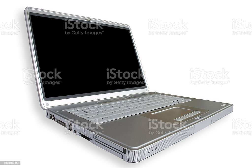 Wide Laptop stock photo