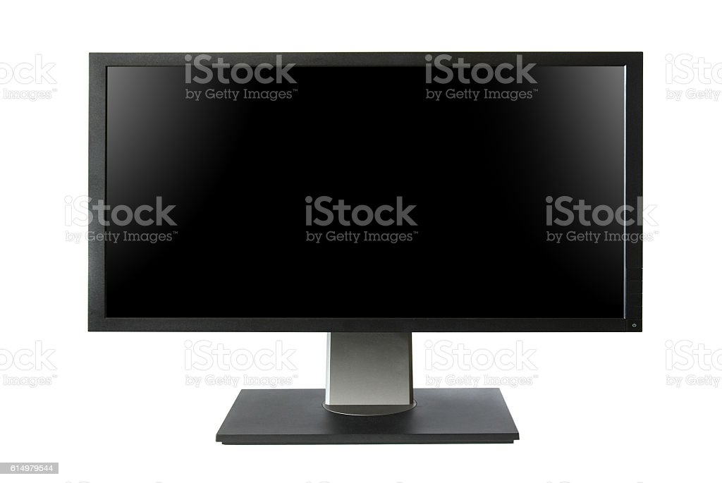 Wide lcd monitor with empty screen stock photo