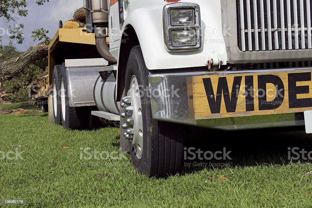 Wide load flatbed truck royalty-free stock photo