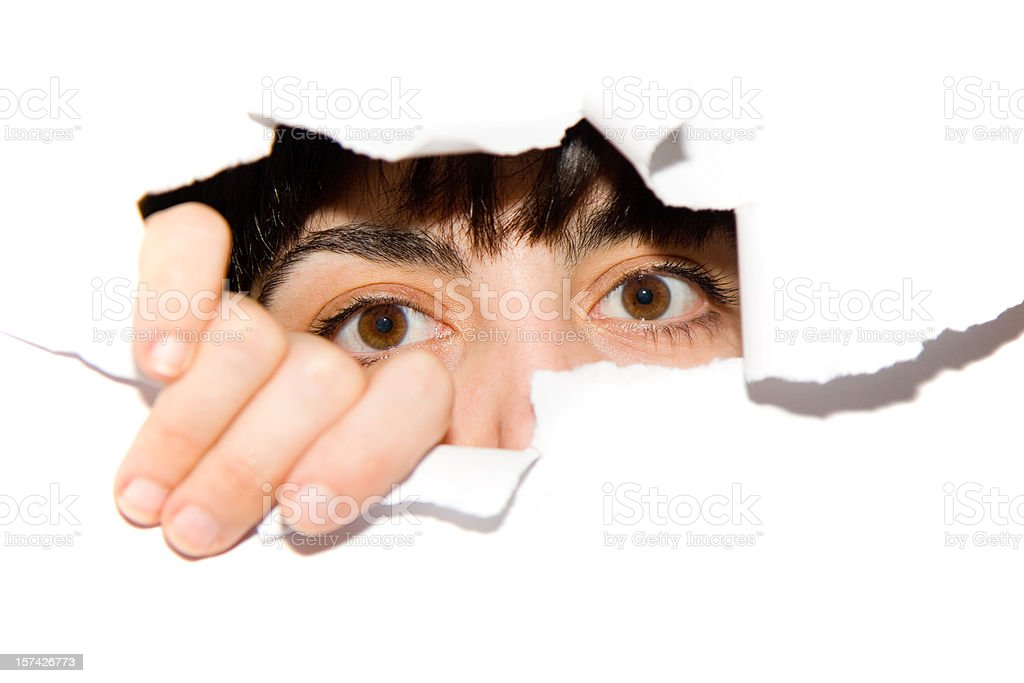 wide open eyes royalty-free stock photo