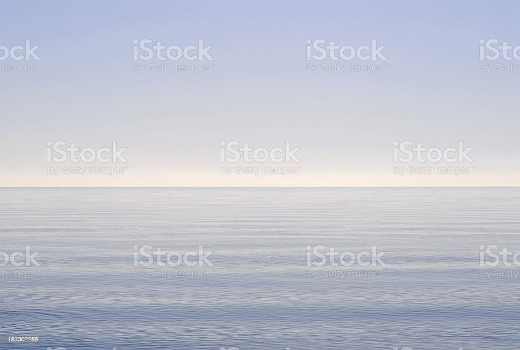Wide open lake space stock photo