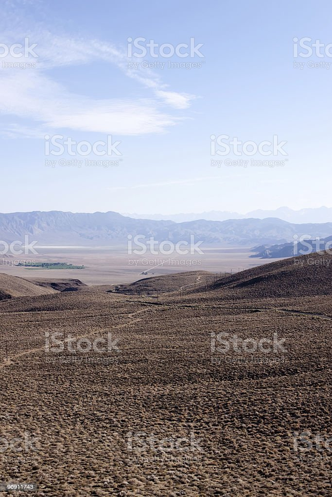 Wide open Nevada desert royalty-free stock photo