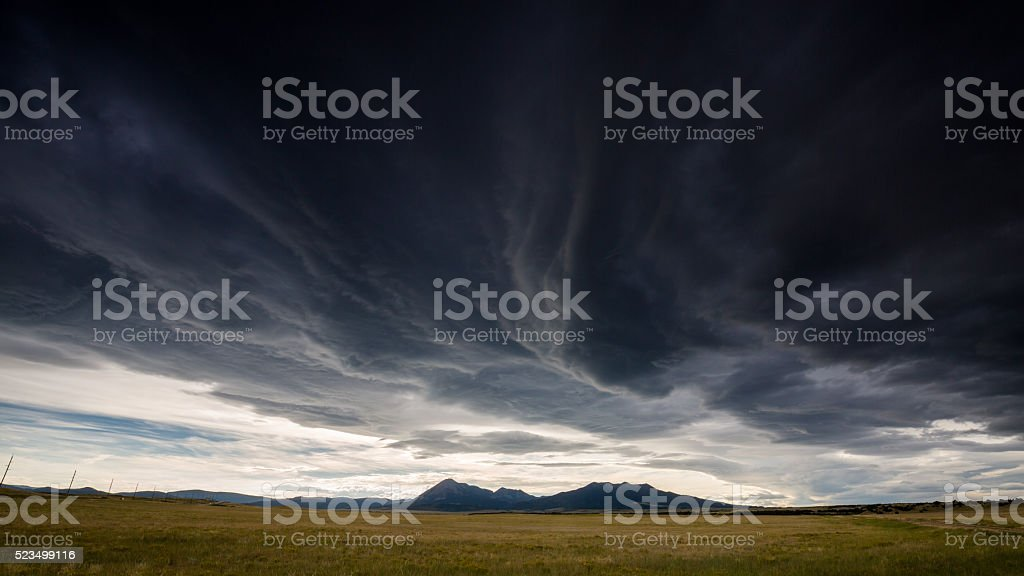 Wide open range in Alamosa County stock photo