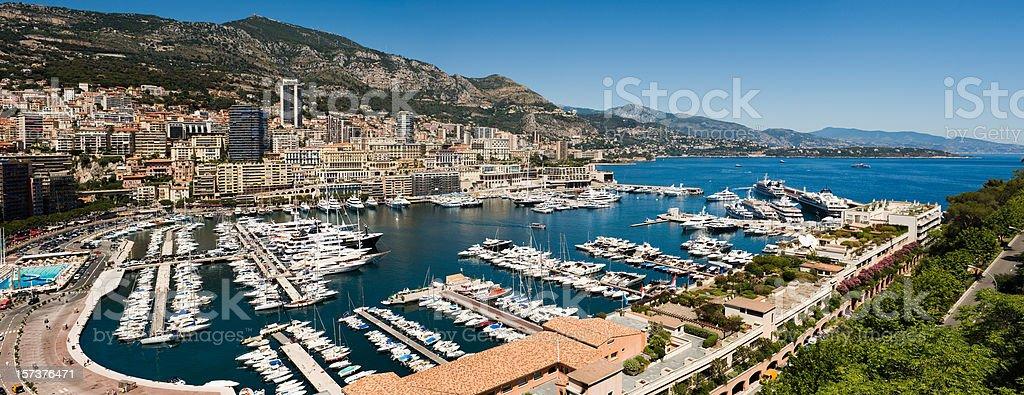 Wide Panorama of Monaco Monte Carlo Nikon D3 royalty-free stock photo