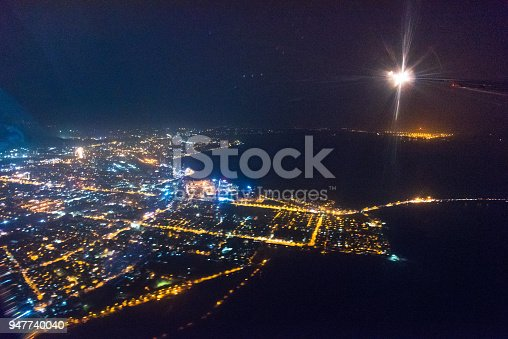 947740086 istock photo Wide panoramic view of Mumbai financial capital of India 947740040