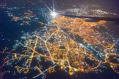 Wide panoramic view of Mumbai financial capital of India