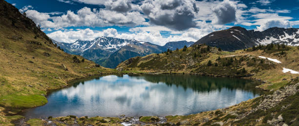 wide panoramic vista over tristaina lake,andorra - free images for downloads stock photos and pictures