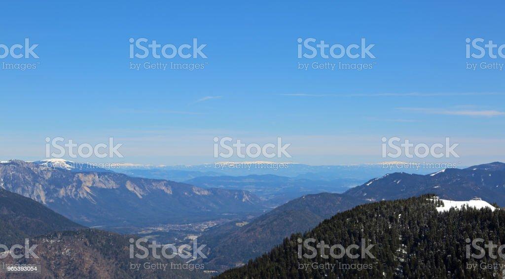 Breite Panormaric Blick auf die Berge von Italien nach Österreich - Lizenzfrei Alpen Stock-Foto