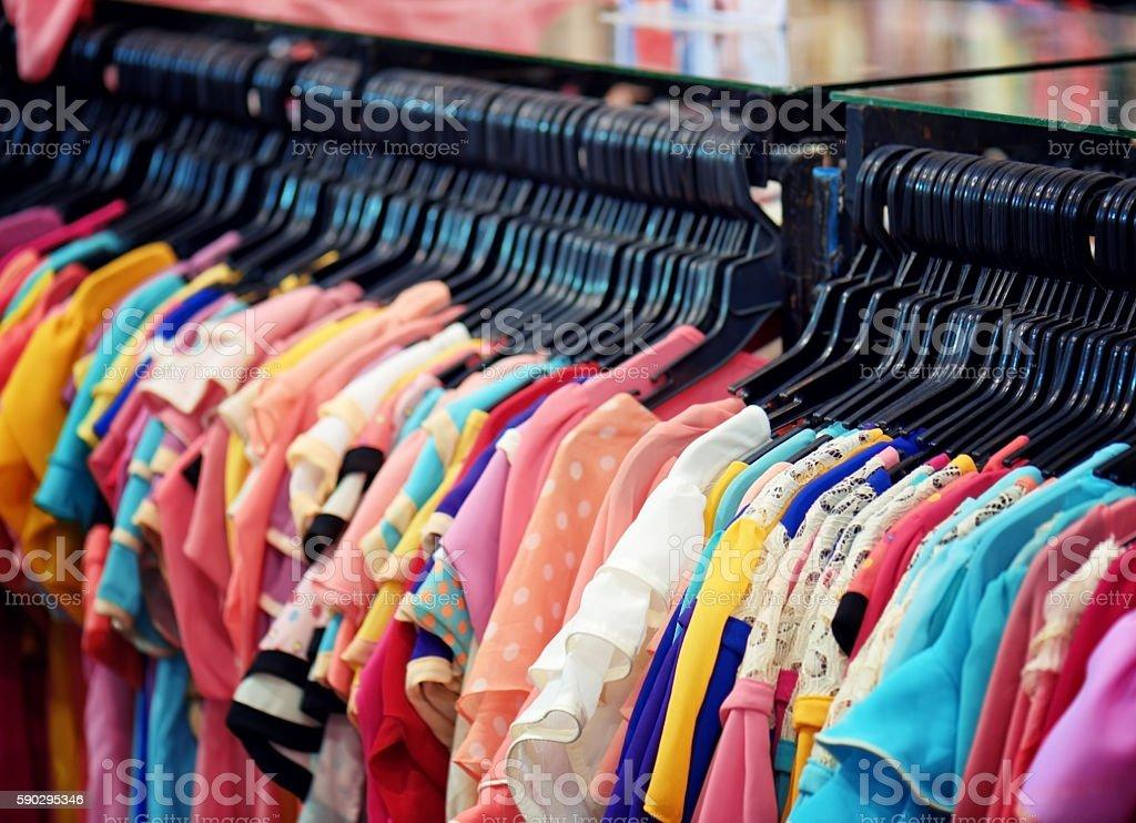 Wide range of women's blouses in store Стоковые фото Стоковая фотография