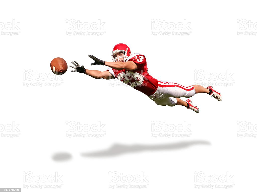 Wide Receiver with Clipping Path royalty-free stock photo