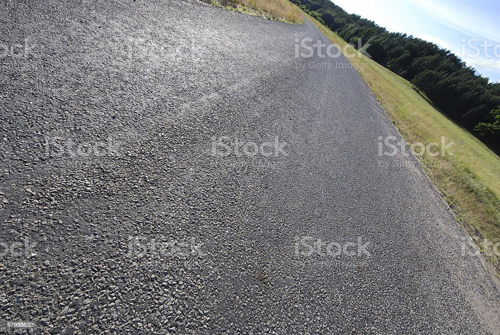Wide road royalty-free stock photo