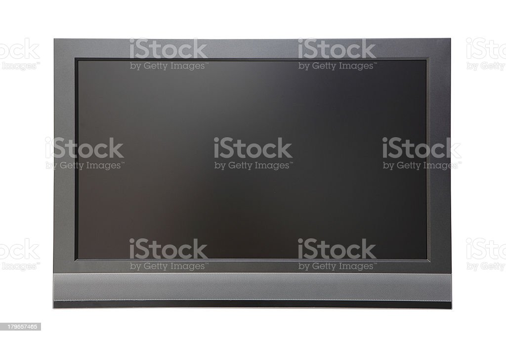 wide screen LCD TV royalty-free stock photo