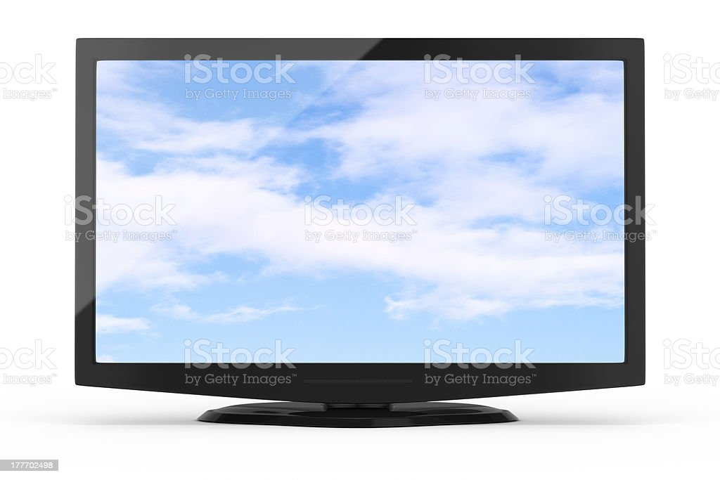 wide screen tv royalty-free stock photo