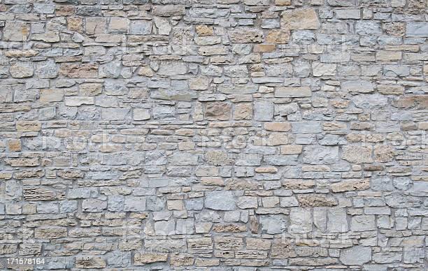Photo of Wide shot of a plain limestone wall