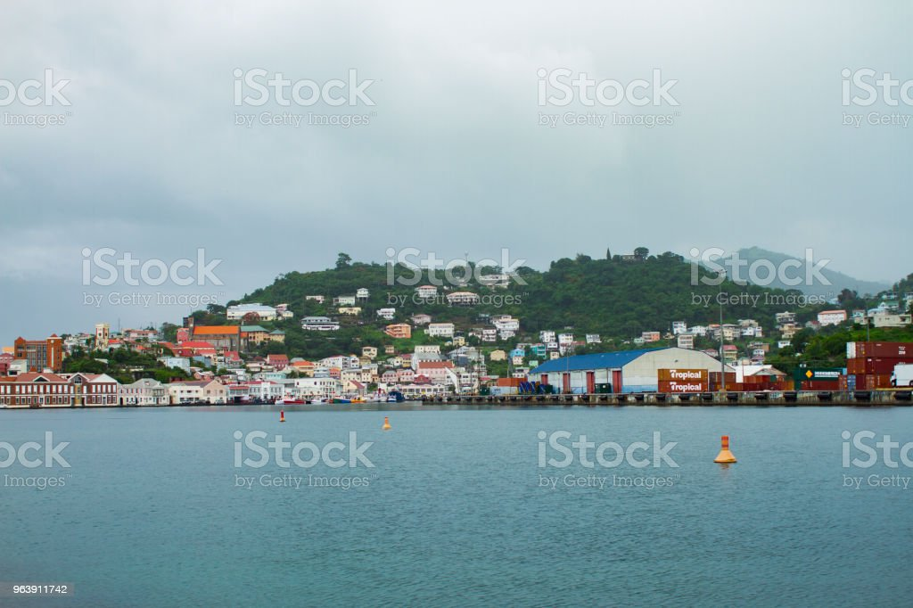 Wide Shot Saint George Grenada stock photo