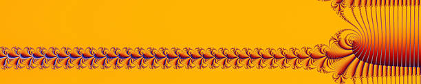 title bar ribbon header strip fractal image orange - whiteway fractal stock photos and pictures