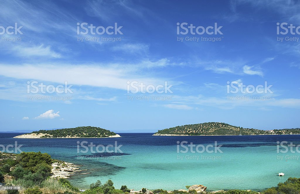 A wide view of Paradisiac beach stock photo