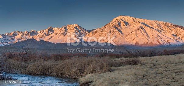 California, Bishop - California, Snow, Owens River, Blue