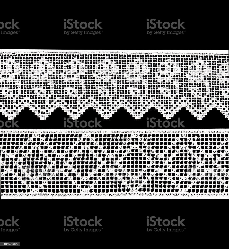 Wide white lace royalty-free stock photo