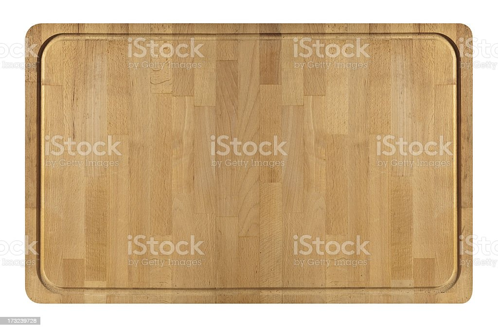 Wide Wooden Cutting Board stock photo