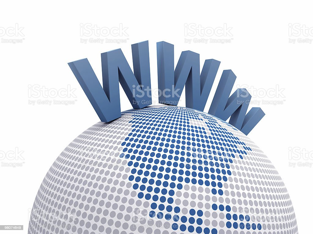 Wide World Web with the Earth Globe royalty-free stock photo