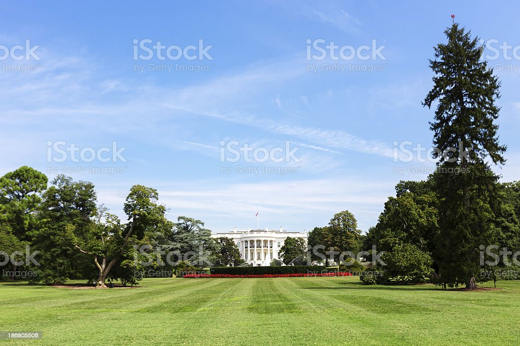 Wide-Angle White House royalty-free stock photo