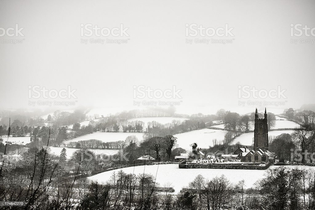 Widecombe in the Moor, Devon stock photo