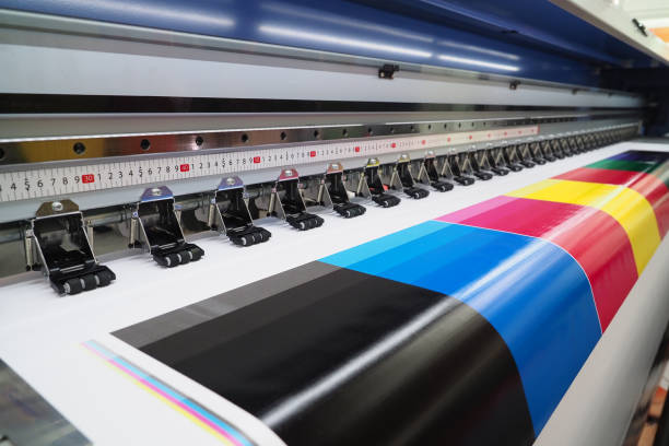 wide-format inkjet printer - print stock photos and pictures