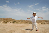 Matmata hills on the end of Sahara desert