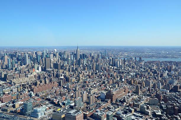 Wider Manhattan Skyline stock photo