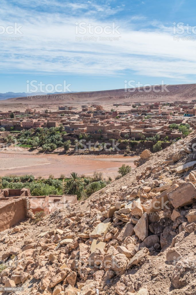 Wider town of Ait Benhaddou in Morocco, Africa stock photo