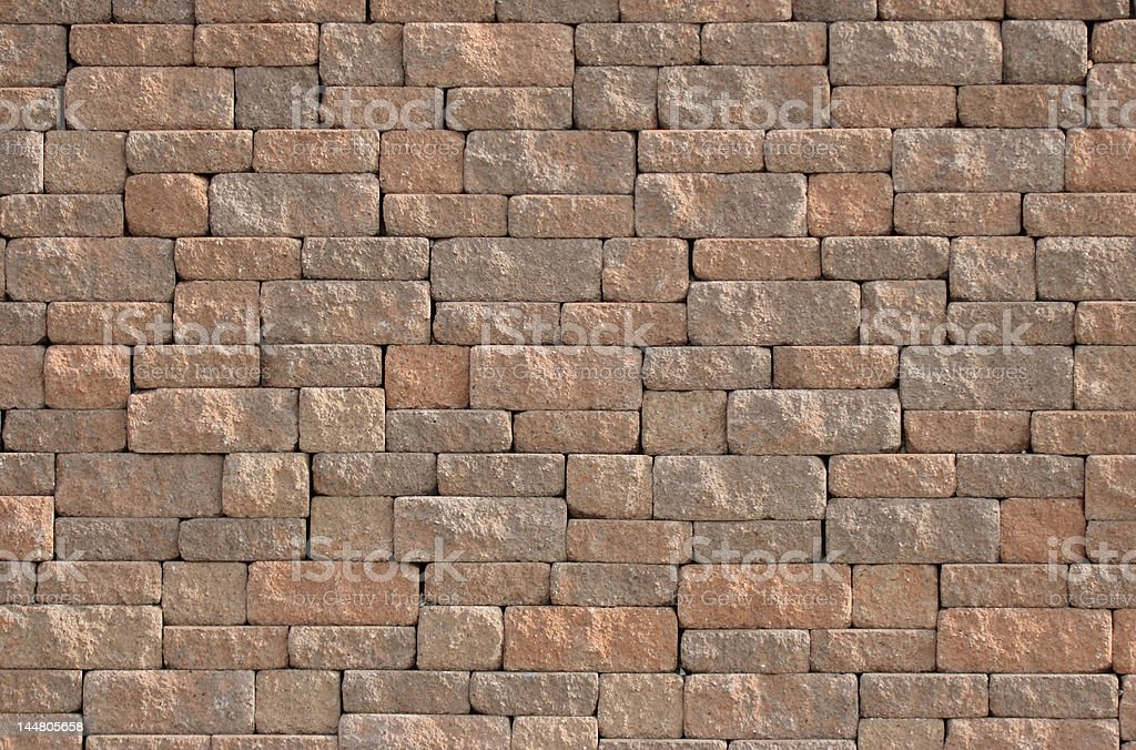 Wider view of a concrete block wall royalty-free stock photo