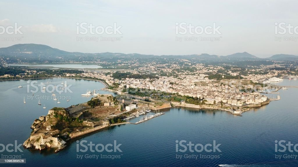 Wider View of Corfu City stock photo