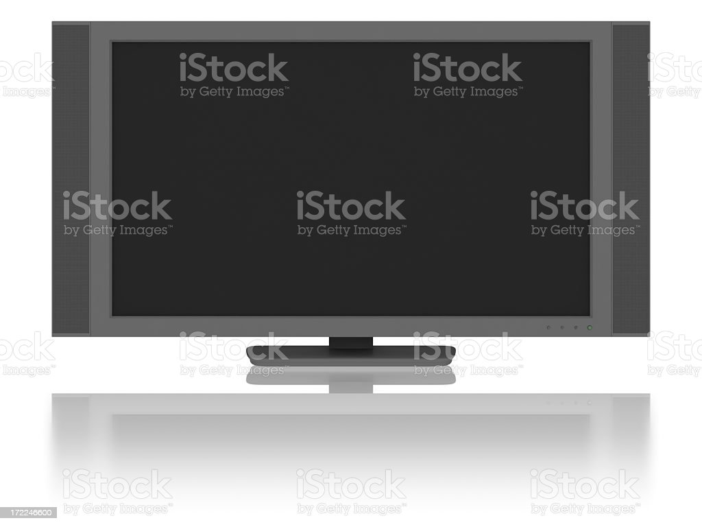Widescreen LCD / Plasma Television (Isolated) royalty-free stock photo