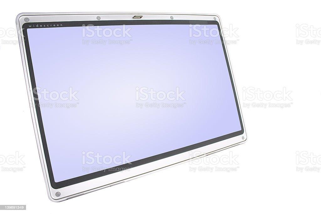 Widescreen monitor royalty-free stock photo