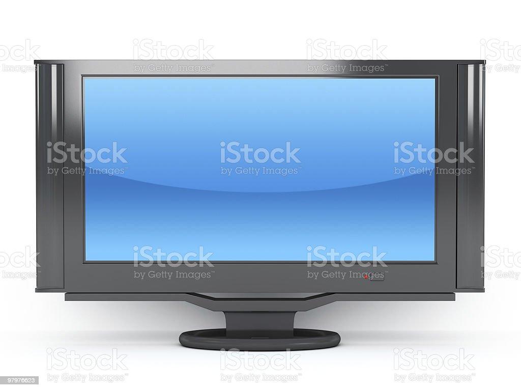 widescreen tv royalty-free stock photo