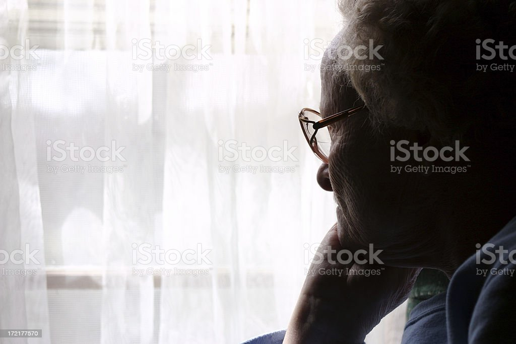 Widow Alone royalty-free stock photo