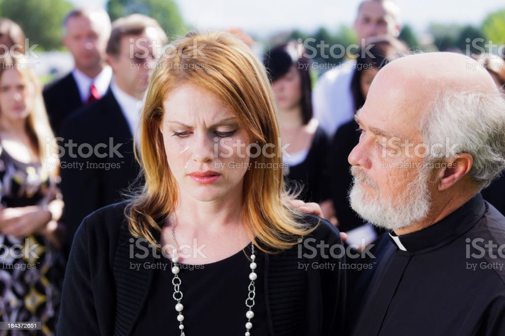 Widow at a Funeral royalty-free stock photo