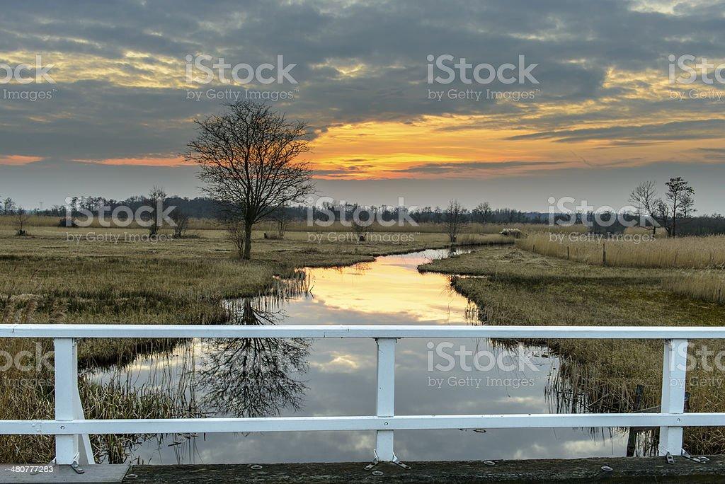 Wieden Sunset royalty-free stock photo