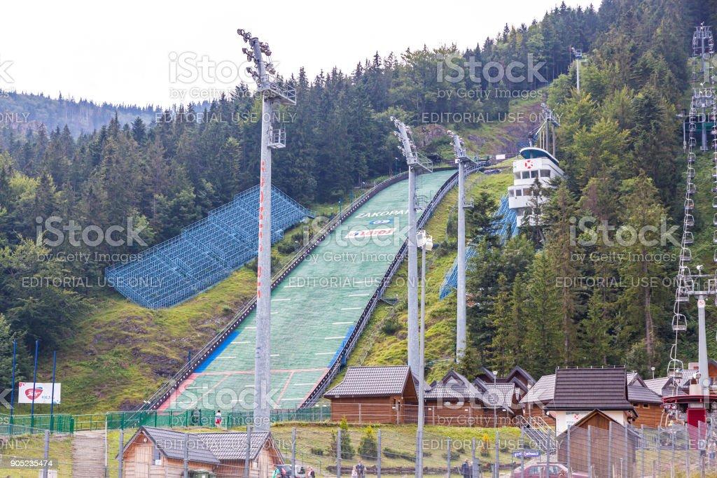 Wielka Krokiew ski jumping venue in Zakopane, Poland stock photo