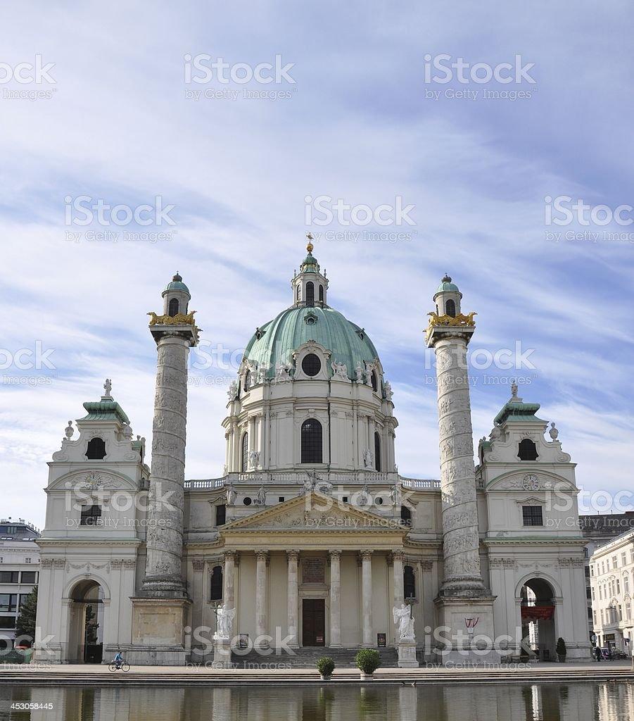 Wien, Vienna, Vindobona, Karlsplatz, Europe, Osterreich, Karlskirche stock photo