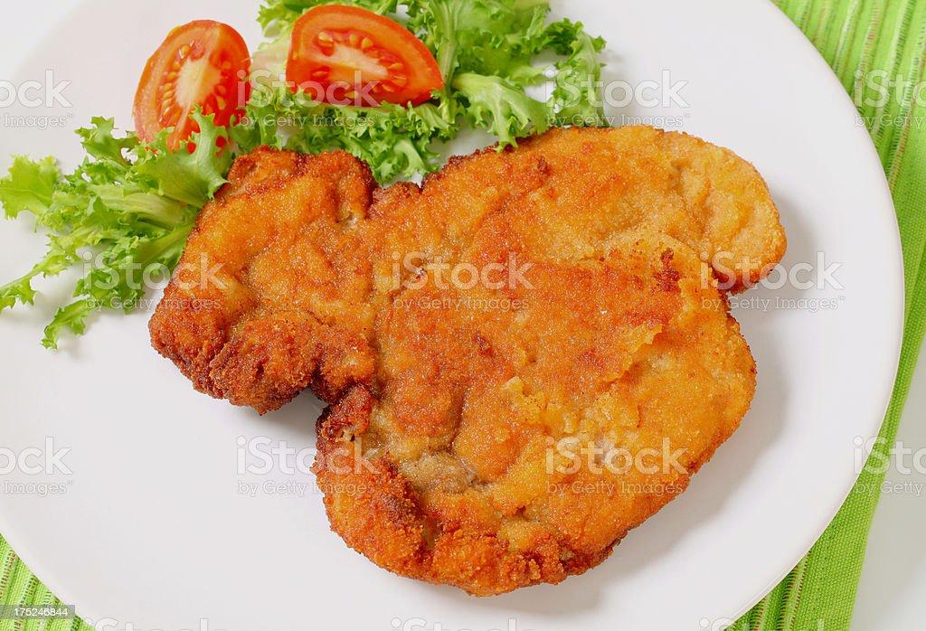 Wiener schnitzel (escalope) royalty-free stock photo