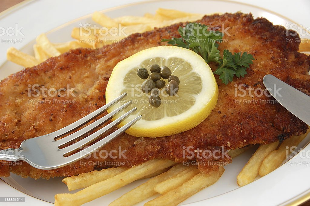 Wiener Schnitzel royalty-free stock photo